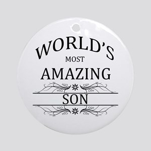 World's Most Amazing Son Ornament (Round)
