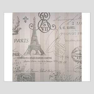 stripes elegant paris Eiffel tower floral art Smal