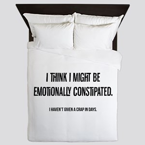emotionally constipated 2 Queen Duvet