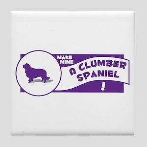 Make Mine Clumber Tile Coaster