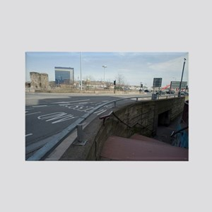 Urban traffic roundabout Rectangle Magnet