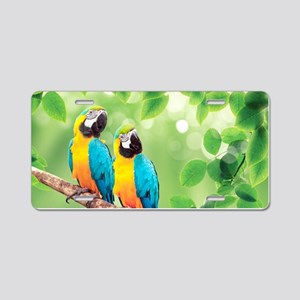 Macaws Aluminum License Plate