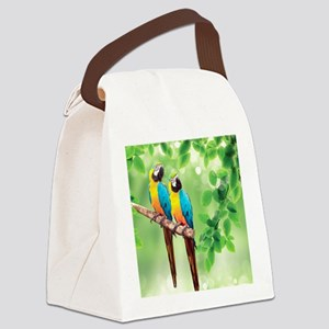 Macaws Canvas Lunch Bag