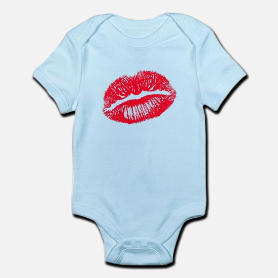 The Kiss, Red Lips Infant Bodysuit
