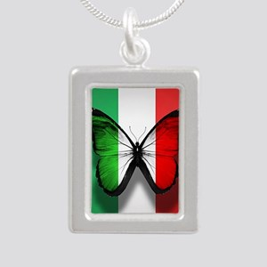 Italian Flag Butterfly Necklaces