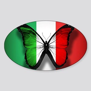 Italian Flag Butterfly Sticker