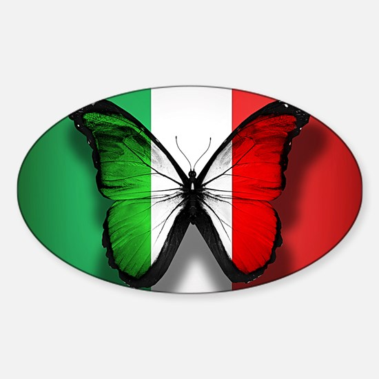 Italian Flag Butterfly Decal