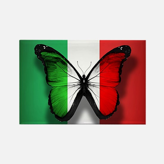 Italian Flag Butterfly Magnets