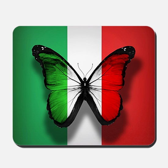 Italian Flag Butterfly Mousepad