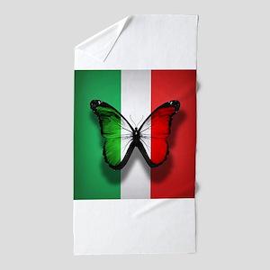 Italian Flag Butterfly Beach Towel