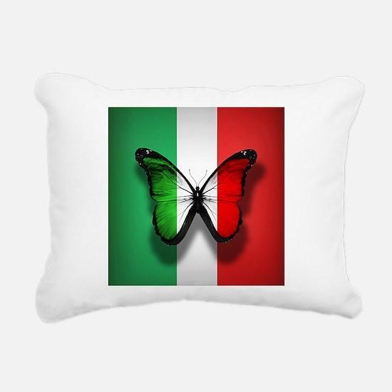 Italian Flag Butterfly Rectangular Canvas Pillow