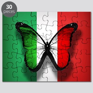 Italian Flag Butterfly Puzzle