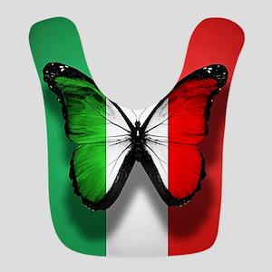 Italian Flag Butterfly Bib