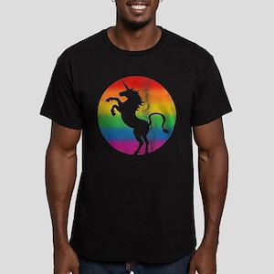 Retro Unicorn Rainbow Men's Fitted T-Shirt (dark)