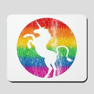 Retro Unicorn Rainbow Mousepad