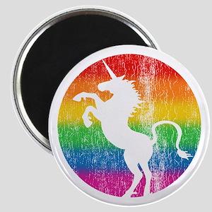 Retro Unicorn Rainbow Magnet