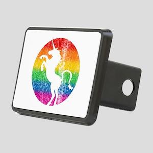 Retro Unicorn Rainbow Rectangular Hitch Cover