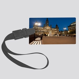 george square at night Large Luggage Tag