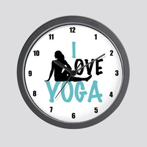 I Love Yoga Wall Clock
