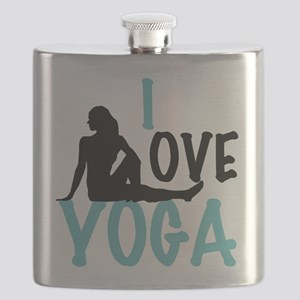 I Love Yoga Flask