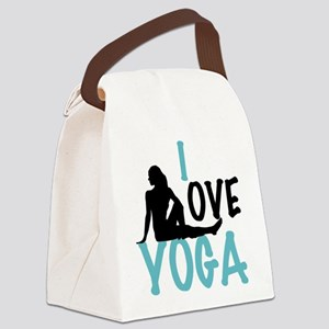 I Love Yoga Canvas Lunch Bag