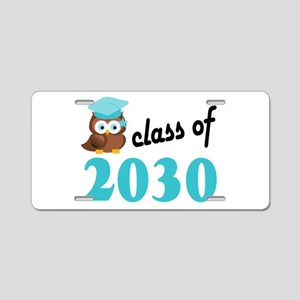Class of 2030 (Owl) Aluminum License Plate