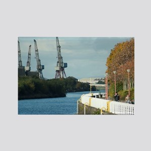Clyde shipyards in Glasgow Scotla Rectangle Magnet