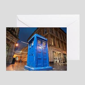 glasgow police box Greeting Card