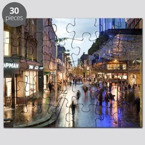 Sauchiehall Street in Glasgow at night Puzzle