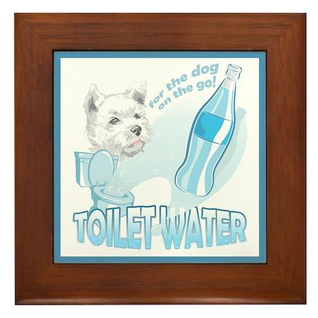 """""""Toilet Water"""" Framed Tile"""