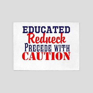 Educated Redneck 5'x7'Area Rug