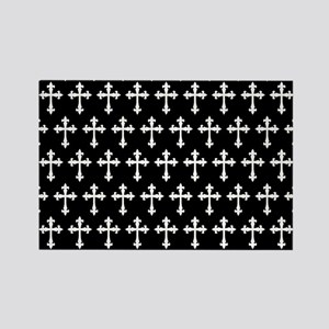 Gothic Crosses Pattern Rectangle Magnet