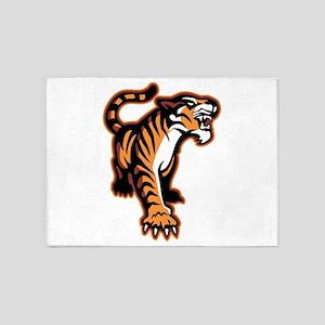 Mean Tiger 5'x7'Area Rug