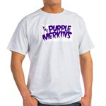 Purple Merkins Logo Grey And Light T-Shirt