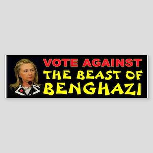 Hillary The Beast Bumper Sticker