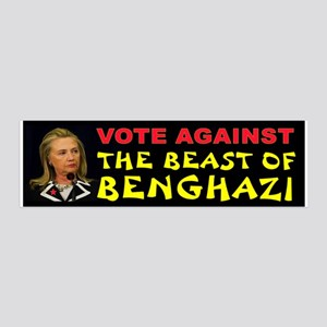 Hillary The Beast 36x11 Wall Decal