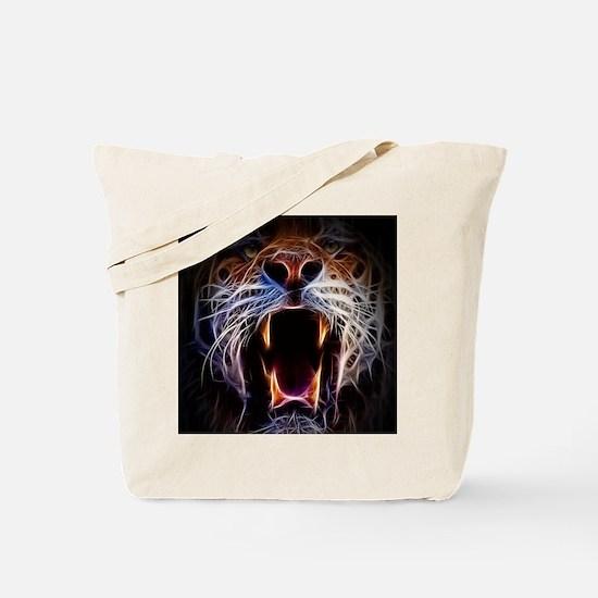 Electrified Tiger Tote Bag