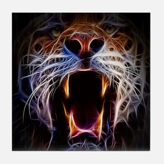 Electrified Tiger Tile Coaster