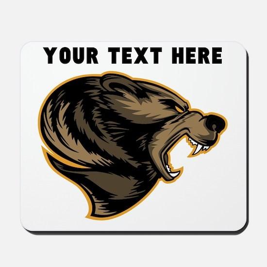 Custom Grizzly Bear Mousepad