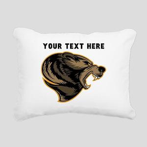 Custom Grizzly Bear Rectangular Canvas Pillow
