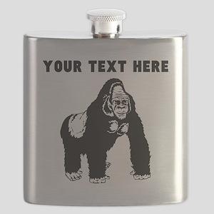 Custom Silverback Gorilla Flask