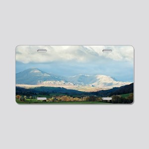 Scenic landscape in the Eng Aluminum License Plate