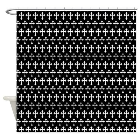 Gothic Crosses Pattern Shower Curtain