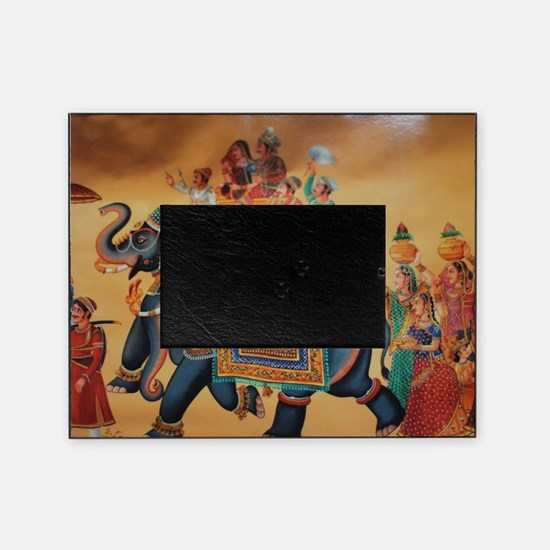 INDIAN ROYALTY ON ELEPHANTS Picture Frame