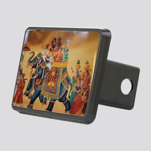 INDIAN ROYALTY ON ELEPHANT Rectangular Hitch Cover