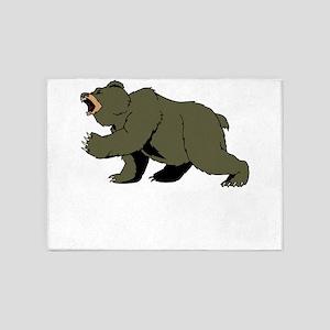Angry Bear 5'x7'Area Rug