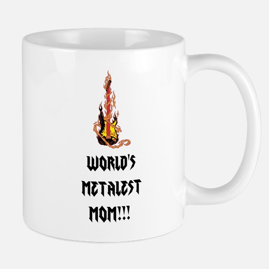 Worlds Metalest Mom!!! Mugs