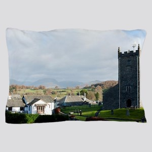 Old stone church and cottages in Hawks Pillow Case
