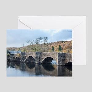 Newby Bridge in Cumbria, England Greeting Card
