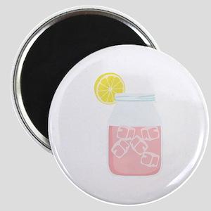 Glass Mason Jar Pink Lemonade Beverage Drink Magne
